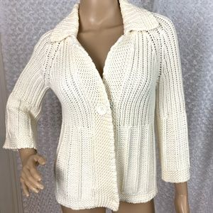 Liz Claiborne Super Chunky Knit Button Cardigan